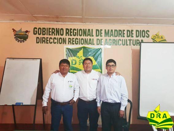 DIRECTOR GENERAL DE LA DIGESPACR DEL MINAGRI SOSTIENE IMPORTANTE REUNIÓN CON LA DIRECCIÓN REGIONAL DE AGRICULTURA DE MADRE DE DIOS