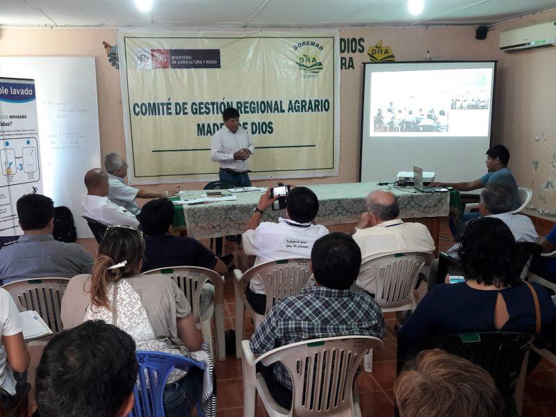 ACUERDOS DEL COMITÉ DE GESTIÓN REGIONAL AGRARIO MDD, EN EL ACTA Nº 09-2018-CGRA-MDD
