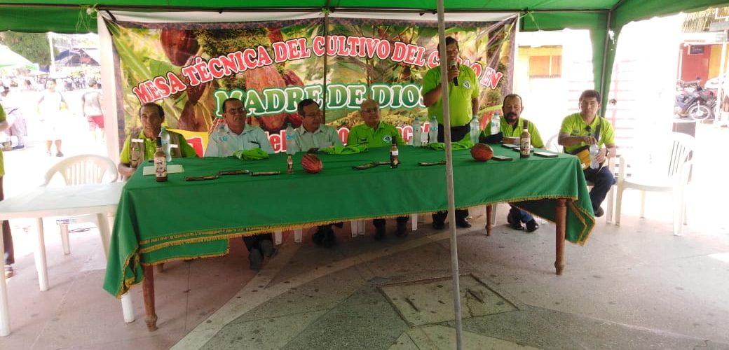 LANZAMIENTO OFICIAL DEL PROYECTO CACAO EN COORDINACIÓN DE LA MEZA TÉCNICA DE CACAO DE MADRE DE DIOS.