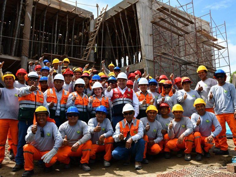 CONSTRUCCIÓN DE NUEVA SEDE PARA AL DIRECCIÓN DE SANEAMIENTO TIENE 70% DE AVANCE