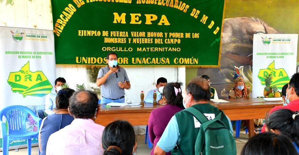GOBIERNO REGIONAL ATIENDE DEMANDAS DE MERCADO AGROPECUARIO MEPA.