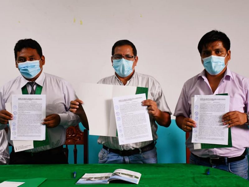 GOREMAD, MUNICIPALIDAD DE INAMBARI Y ASOCIACIÓN DE GANADEROS DE INAMBARI SUSCRIBEN CONVENIO INTERINSTITUCIONAL PARA POTENCIAR ACTIVIDAD PECUARIA.