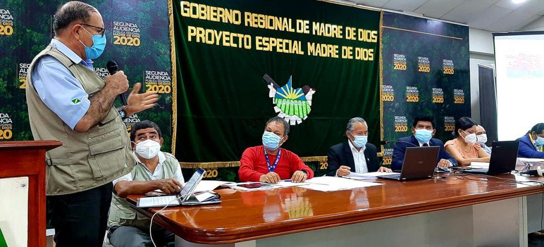 la participación del gerente general del Goremad Mg. Alberto Clement, el director regional de Agricultura Mg. Alfredo Herrera