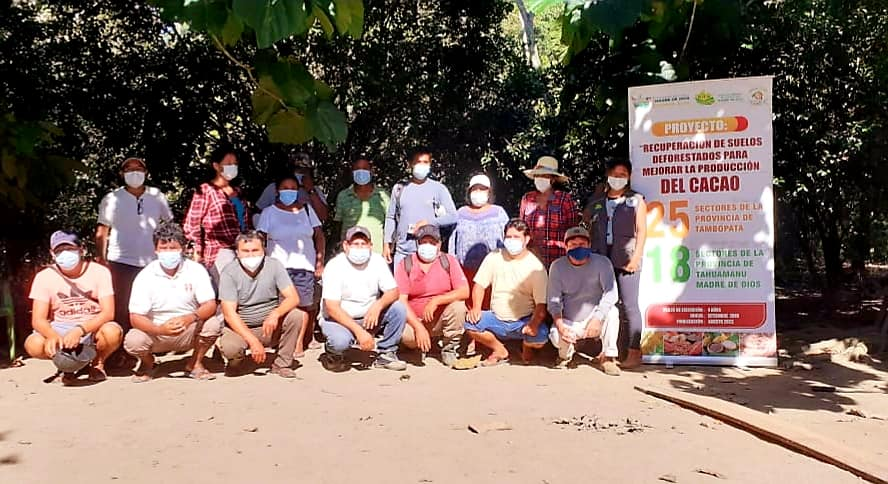 GOREMAD Y DRA CAPACITA A LOS AGRICULTORES DEL PROYECTO CACAO, CON TALLER TEÓRICO – PRÁCTICO