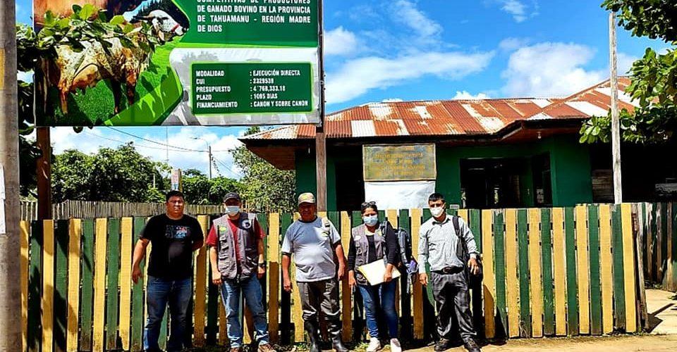 SUPERVISAN Y ACELERAN AVANCES DE PROYECTO GANADERO QUE EJECUTA EL GOREMAD-DRA.