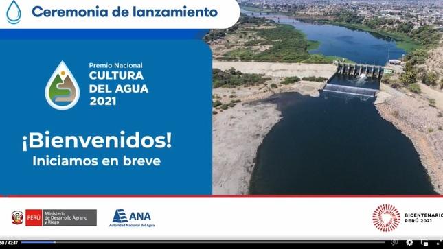 QUINTA EDICION 2021 DEL PREMIO NACIONAL CULTURA DE AGUA